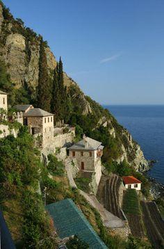 antibig:    Agion Oros - Holy Mount - View to Aegean Sea  Macedonia - Greece
