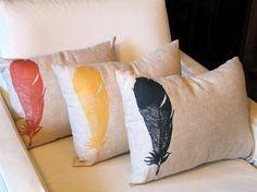 Feather Throw Pillow. $55,00, via Etsy.