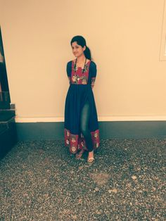 A kalamkaari passion Kalamkari Designs, Churidar Designs, Kurti Neck Designs, Kurta Designs Women, Kurti Designs Party Wear, Indian Attire, Indian Wear, Indian Dresses, Indian Outfits