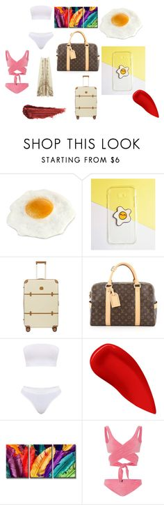 """""""target"""" by efrat-kazoum ❤ liked on Polyvore featuring Samsung, Bric's, Louis Vuitton, Lipstick Queen, Paolita and By Terry"""