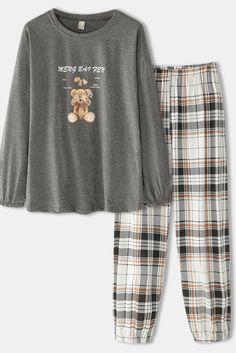 Pajama Outfits, Lazy Outfits, Teen Fashion Outfits, Korean Outfits, Cute Casual Outfits, Cute Pajama Sets, Cute Pajamas, Ropa Teen Wolf, Jugend Mode Outfits