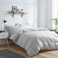 Elements Easycare Grey Bed Linen Collection
