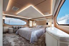 Benetti Dlefino Luxury Yacht, featuring Pure White Seamless Brick Design Freshwater Mother of Pearl.  by Shellshock Designs  #interior #design #yacht