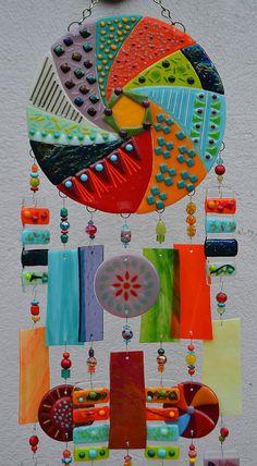 Orden especial para Donna - windchime Kirks vidrio arte fundido vidrieras carillón de viento - torbellino