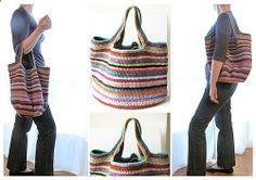 Ravelry : gabyvs Crochet bag. Fantastic bag ! Free pattern from Attic 24 and notes on this particular project for her change to the handles.