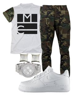 """""""K Camp- 5 Minutes"""" by crenshaw-m4fia ❤ liked on Polyvore featuring SSUR, NIKE, men's fashion and menswear"""