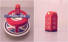 cake london look / london cake London Party, London Cake, Cake Designs For Kids, London Look, England, Food Test, Cake Decorations, Union Jack, Fondant Cakes