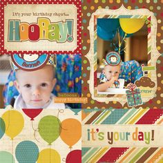 HOORAY, IT'S YOUR DAY! - 2 photos - Simple Stories Happy Day layout
