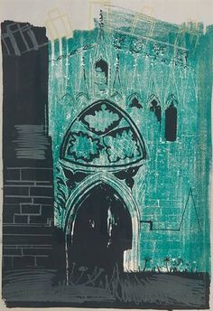 Buy art online- Gaddesby, Leicestershire- signed limited edition lithograph by John Piper from CCA Galleries. John Piper Artist, Art Terms, Just Ink, Collage Art Mixed Media, A Level Art, Buy Art Online, Stone Work, Art Auction, Landscape Art