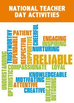 national teachers day activities