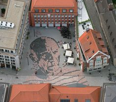 """Münster - """"Picassoplatz"""" in front of the Pablo Picasso Graphics Museum - #Muenster, Germany"""