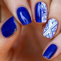 blue nail 2018