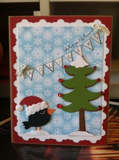 super cute winter card - Jolly Holiday cartridge #cricut
