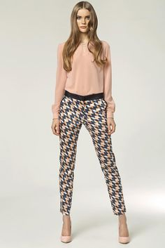 10cd1d851c5a Women Print Natasha Geometric Pants Business Outfits