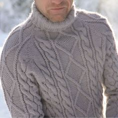 мужской свитер | Tumblr Mens Fall, Cable Knit Sweaters, Knitting Designs, Men Looks, Knit Patterns, Pulls, Hand Knitting, Knitwear, Knit Crochet