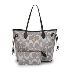 Coach Legacy In Monogram Medium Grey Totes DCG [Coach0A2241] - Coach Legacy In Monogram Medium Grey Totes DCG Product Details The simple lines of this classic tote showcase the striking combination of leather handles and refined fabric printed with Signature Cs. Archival hardware elegantly adds practicality. -Size:13 2/5 x 7 1/2 x 11-Signature fabric with leather trim-Top handles-Small
