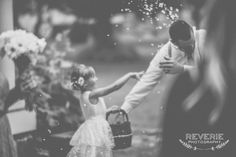 The flower girl and her father.