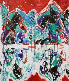 Michaële-Andréa Schatt, Reflets 1, 2011 Peinture sur calque — 150 × 110 cm Domaine de Kerguéhennec / CG56 — Photo Stéphane Cuisset