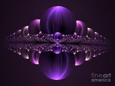 Fantastic Purple Skyline Digital Art