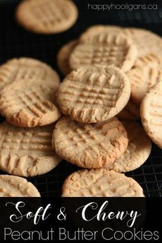 THEE Best Soft and Chewy Peanut Butter Cookies - Happy Hooligans