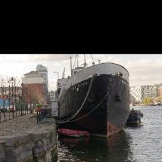 The Naomh Eanna in South Dock Boat Yard. Jumped off this boat many times as a kid Galway Ireland, Dublin, Yard, Boat, Times, Places, Garten, Boats, Front Yards