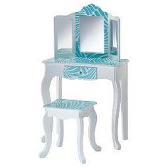 Fashion Prints Tropical Vanity Table & Stool Set - Teamson Kids