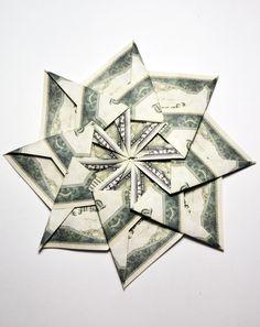 54 best money flowers origami images on pinterest in 2018 money beautiful money star flower origami dollar bills tutorial diy folding beautiful money star out mightylinksfo
