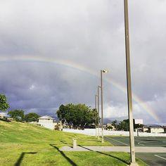 #曇り空 にくっきり #レインボー  #虹 #空 #雲 #hawaii #ハワイ