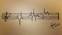 music tattoo! Love it!