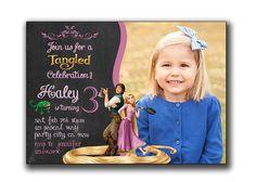 Rapunzel Birthday Invitation Rapunzel Birthdays and Birthday