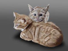 "digital painting ""kitties"""