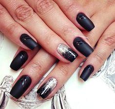 Black glitter fade