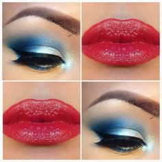 4th of July Makeup By Michelle Dotdot (IG: mdotmakeup )