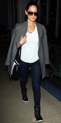 Celebrity Trend: Chic Sneakers - Olivia Munn from #InStyle