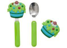 Essbesteck für Kinder mit Cupcake-Deckel