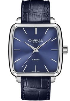 There is something elegant about a simply executed three hand watch. And the new Christopher Ward Malvern Slimline Squared (or Slimline² for the mathematically inclined) is certainly elegant. Christopher Ward, Blue One Piece, Swiss Made Watches, Luxury Watch Brands, Mechanical Watch, Square Watch, Stainless Steel Case, Omega Watch, Apple Watch