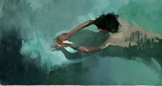 A lovely series of swimming figures painted by Colombian illustrator and painter Pedro Covo. Pedro Covo was born in Cartagena de Indias - Colombia on. Creative Connections, Holiday Images, Colossal Art, Cool Paintings, Beach Paintings, Figure Painting, Traditional Art, Oeuvre D'art, Painting Inspiration