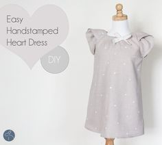 Me Sew Crazy: Easy Hand Stamped Heart Dress, Tutorial