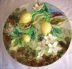 Grand plat aux citrons signé LONGCHAMP - Art et Antiques