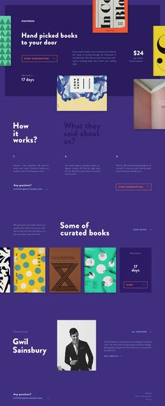 The Right Book: UI and Web Design concept for a book subscription service by Jaromir Kveton on dribbble.