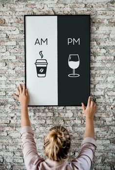 Am Pm Printable Art Kitchen Poster Coffee & Wine Decor Home Decor Wall Art Am Pm Decoration Ideas Diy Home Decor Rustic, Home Decor Wall Art, Room Decor, Kitchen Posters, Am Pm, Wine Signs, Time Stood Still, Wine Decor, Diy Chandelier