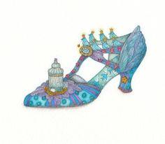 Blue Shoe by Tracy Paul