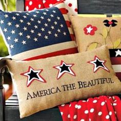 The Best Outdoor Decorations for the 4th of July: Grandin Road Patriotic Pillows