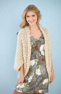 DIY Simple Crochet Shrug: Free pattern.