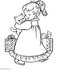 Here we have another coloring page of Dora and Boots decorating a