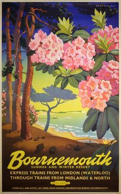 Vin tage Railway Travel Poster - Bournemouth - UK. -Google Search.
