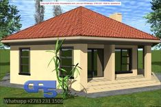 Overall Dimensions- x mBathrooms- Car Garage Area- Square meters Round House Plans, My House Plans, Bungalow House Design, Small House Design, Home Building Design, Building A House, Flat Plan, 2 Bedroom House Plans, Houses