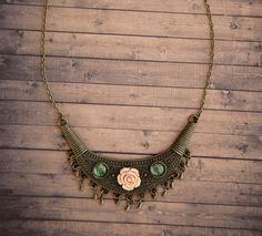 Ilianne | Jewelry Made of Love - Fringe Rose Necklace Rose Necklace, Turquoise Necklace, Jewelry Making, Pink Necklace, Teal Necklace, Jewellery Making, Make Jewelry