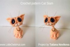 Cat siam amigurumi project by Tatiana Novikova #LittleOwlsHut, #Amigurumi, #CrohetPattern, #Crochet, #Crocheted, #Cat, #Pertseva, #DIY, #Craft, #Pattern