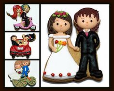 bride & groom cookies